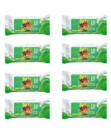 Angry Birds Premium Wet Wipes Green Pack of 8 - 80 Wipes