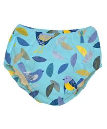 Charlie Banana 2 in 1 Swim Diaper & Training Pants Twitter Birds Extra Large  - Blue