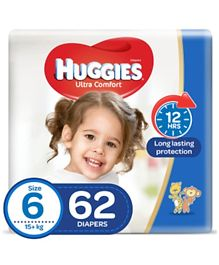 Huggies Ultra Comfort Diapers Size 6 Jumbo Pack - 62 Pieces