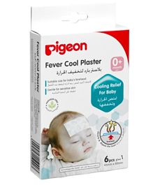 Pigeon Fever Cool Plaster For Baby's Forehead - Pack of 6