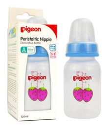 Pigeon Decorated Plastic Bottle - 120 ml Pack of 1 - (Colour & Design may Vary)