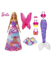 Barbie Dreamtopia Dress Up Doll Giftset - Multicolour