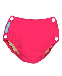 Charlie Banana Reusable Easy Snaps Swim Diaper Fluorescent Extra Large - Hot Pink