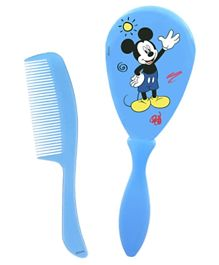Disney Mickey Mouse Baby Comb & Brush Set - Blue