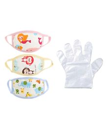 Sunbaby Mask & Gloves Safety Pack of 13 - Multicolour