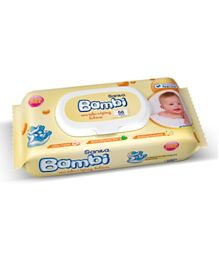 Sanita Bambi Baby Wet Wipes Moisturizing Lotion Wipes - 56  Pieces