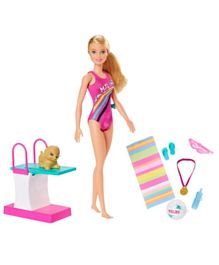 Barbie Sports Lead Doll - Pink
