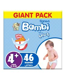 Sanita Bambi Baby Diapers Giant Pack Size 4+ -  46 Pieces