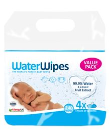 WaterWipes Baby Wipes Value Pack - 4 X 60