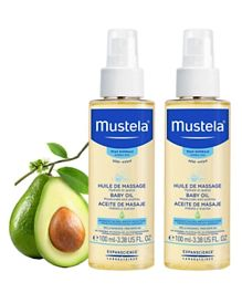 Mustela Baby Massage Oil - 100 ml - Pack of 2