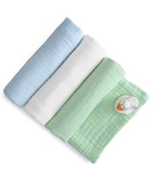 Anvi Baby 100% Organic 6 layered Muslin Bath Towel - Pack of 3