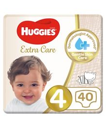 HUGGIES Ultra Comfort Diapers, Size 4, Value Pack, 8-14 kg, 40 Diapers