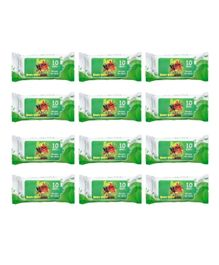 Angry Bird Premium Wet Wipes Green Pack of 12 - 120 Wipes
