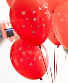 Talking Tables Magic Party Balloons  Red Pack of 12 - 12 Inches