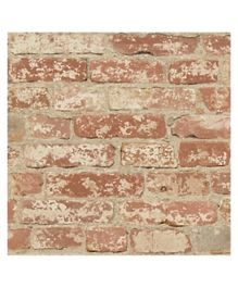 Roommates Stuccoed Brick Peel And Stick Wall Décor - Brown