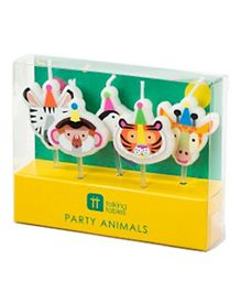 Talking Tables Party Animals Shaped Candles Pack of 5 - Multicolour