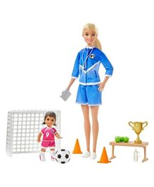 Barbie Soccer Coach Playset with 2 Dolls and Accessories - Blonde