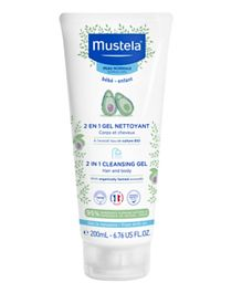 Mustela 2 in 1 Hair and Body Cleansing Gel - 200 ml