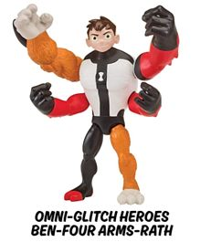 Ben 10 Omni Glitch Heroes Ben Four Arms Rath - Multicolour
