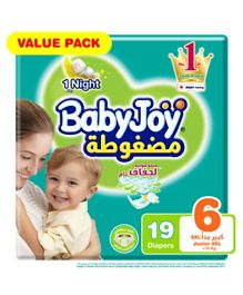 BabyJoy Compressed Diamond Pad Diaper Size 6 - 19 Pieces