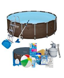 Bestway Rattan Frame Pool Set - 14 Feet by 42 Inches