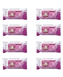 Angry Birds Premium Wet Wipes Lilac Pack of 8 - 80 Wipes