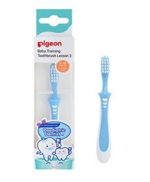 Pigeon Lesson 3 Training Toothbrush - Blue