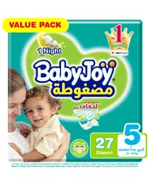 BabyJoy Compressed Diamond Pad Diaper Size 5 - 27 Pieces