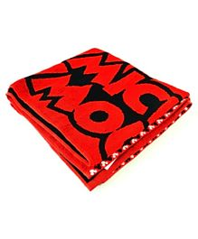 Disney Mickey Jacquard Patterned Kids Bath Towel cotton TC 1781 2 - Red Black