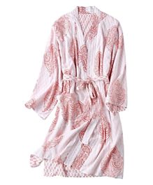 Eco Souk Reversible Organic Cotton Robes - Pink City