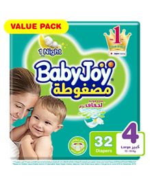 BabyJoy Compressed Diamond Pad Diaper Size 4 - 32 Pieces