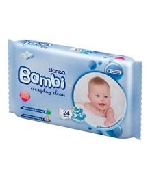 Sanita Bambi Baby Wet Wipes Everyday Clean - 20 Pieces