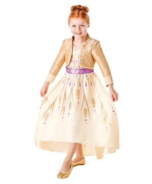 Rubie's Disney Frozen 2 Princess Elsa Prologue Dress - Cream