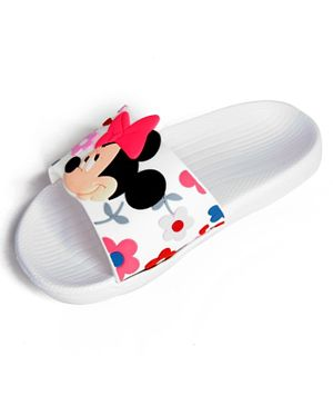 Disney Minnie Mouse Girls Slides - White