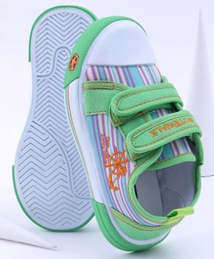 Cute Walk by Babyhug Casual Shoes Anchor Embroidery - Green