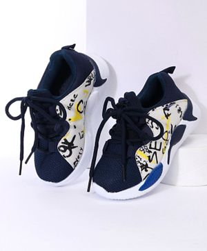 Cute Walk by Babyhug Sports Shoes - Navy White