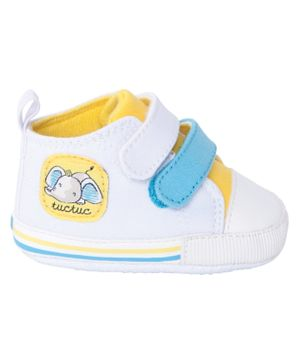 Tuc Tuc Boys Baby Trainers Shoes - White & Yellow
