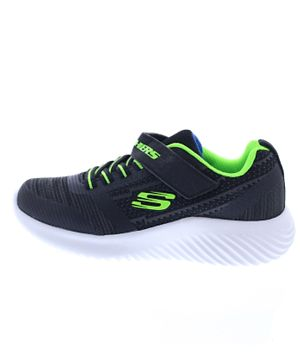 Skechers Bounder Shoes - Blue Black Lime