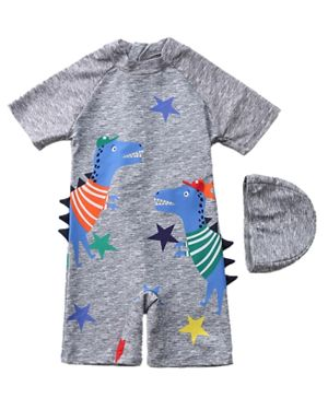 Kookie Kids Legged Swimsuit - Grey