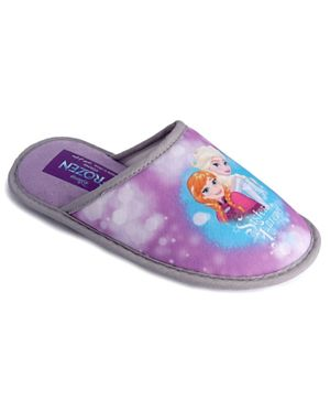 Frozen Girls Home Slipper Deepers - Purple