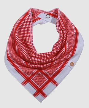 Little Bedoo Bib Shemagh Pattern - Red