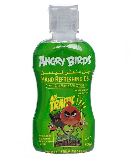 Angry Birds No Alcohol Hand Sanitizer Green - 60 ml