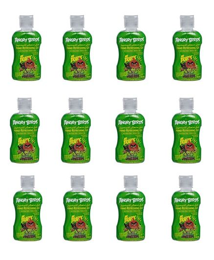 Angry Birds Hand Sanitizer No Alcohol Green Pack of 12 - 60 ml
