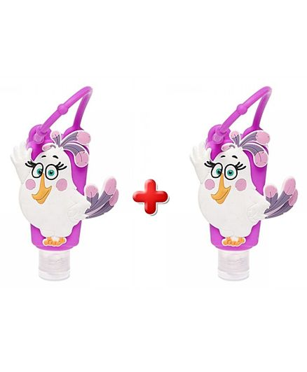 Angry Birds Hand Sanitizer with Silicone Holder Lavender Pack of 2 - Purple
