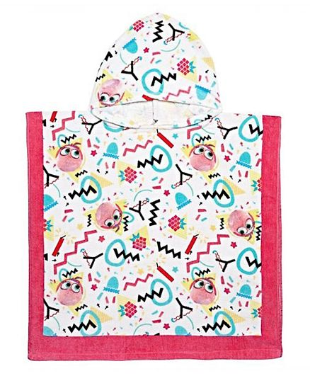 Angry Birds Hooded Poncho - Multicolour