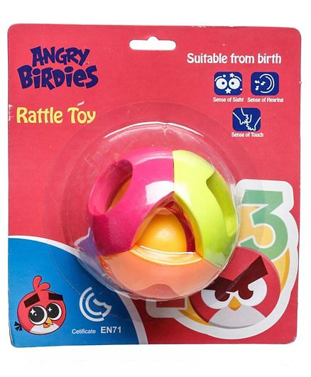 Angry Birds Ball Rattle Toy - Multicolour
