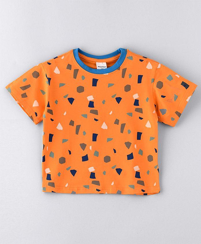 - SAPS Short Sleeves T-Shirts - Orange - 6 Years to 7 Years - boy - for Kids
