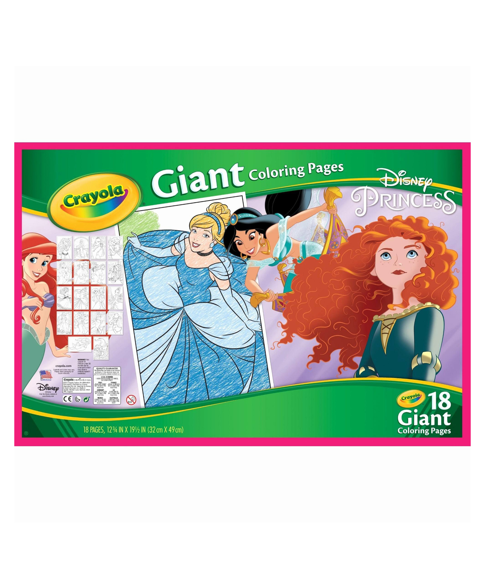 Crayola Giant Colouring Pages Disney Princess - 18 Pages ...